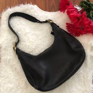 Vintage Coach hobo bag Black leather